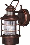 Vaxcel T0186 Hyannis Nautical Burnished Bronze Exterior Motion Sensor Lighting Sconce w/ Photocell