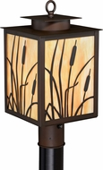 Vaxcel T0229 Bulrush Burnished Bronze Exterior Post Light