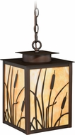 Vaxcel T0231 Bulrush Burnished Bronze Exterior Pendant Light Fixture