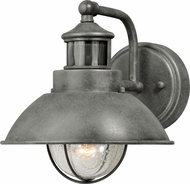 Vaxcel T0253 Harwich Dualux Textured Gray Exterior Motion Detector w/ Photocell Lighting Sconce