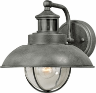 Vaxcel T0261 Harwich Dualux Textured Gray Exterior Motion Detector w/ Photocell Wall Light Sconce