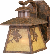 Vaxcel T0295 Whitebark Dualux Mission Olde World Patina Outdoor Motion Sensor Wall Sconce Lighting