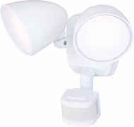 Vaxcel T0298 Tau Dualux Modern White LED Exterior Motion Sensor w/ Photocell Secure Home Lighting