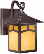 Vaxcel TL-OWD070EB Taliesin Craftsman Espresso Bronze Finish 8.5  Wide Outdoor Wall Light Fixture
