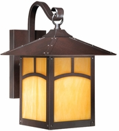 Vaxcel TL-OWD090EB Taliesin Craftsman Espresso Bronze Finish 13.75  Tall Exterior Lighting Wall Sconce