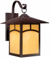 Vaxcel TL-OWD110EB Taliesin Craftsman Espresso Bronze Finish 13.25  Wide Outdoor Wall Lighting Sconce