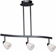 Vaxcel TP53405DB Contemporary Dark Bronze Halogen 3L Spot Light Pendant w/Frosted Opal Glass