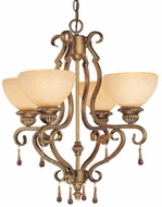 Vaxcel VE-CHU004TZ Versailles Victorian Tuscan Bronze Finish 21.75  Wide Mini Lighting Chandelier