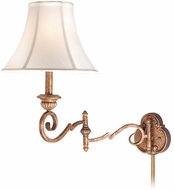 Vaxcel VE-WLS130TZ Versailles Victorian Tuscan Bronze Finish 23.5  Wide Wall Swing Arm Lamp
