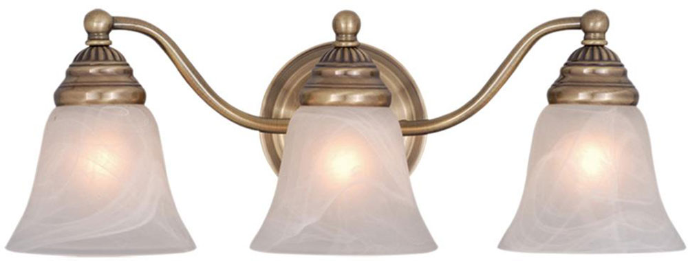 Vaxcel VL35123A Standford Antique Brass 3 Light Bathroom Lighting Fixture V