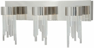 Vaxcel W0016 Ice Modern Polished Nickel Finish 10.75  Tall LED 3-Light Bathroom Lighting Sconce