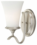 Vaxcel W0029 Sonora Satin Nickel 10.5  Tall Lamp Sconce