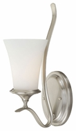 Vaxcel W0030 Sonora Satin Nickel Finish 9  Wide Wall Sconce Lighting