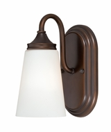 Vaxcel W0055 Lorimer Venetian Bronze Finish 6.25  Wide Wall Sconce