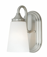Vaxcel W0056 Lorimer Satin Nickel Finish 8.75  Tall Wall Lamp