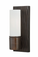 Vaxcel W0061 Lucia Venetian Bronze Finish 4.875  Wide Wall Lighting
