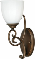 Vaxcel W0083 Claret Venetian Bronze Finish 5.375  Wide Wall Sconce