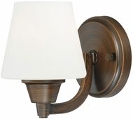 Vaxcel W0100 Calais Venetian Bronze Finish 6.75  Tall Wall Lighting