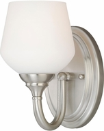 Vaxcel W0138 Grafton Satin Nickel Wall Light Sconce