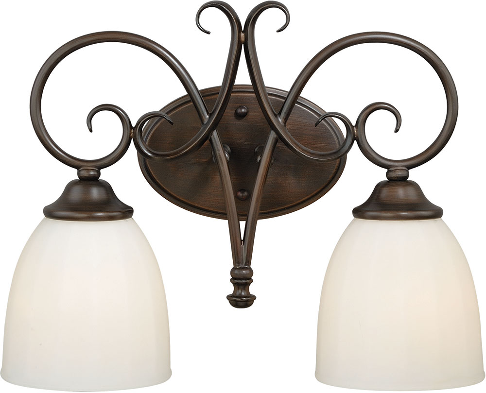 Vaxcel W0192 Claret Venetian Bronze 2-Light Bathroom