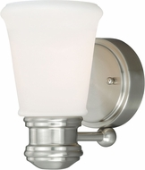Vaxcel W0218 Malie Satin Nickel Lighting Wall Sconce