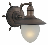 Vaxcel WL25501RC Orleans Nautical Antique Red Copper Finish 10.5  Tall Wall Sconce Light
