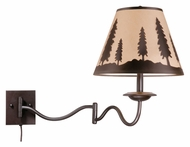 Vaxcel WL55512BBZ Yosemite Country Burnished Bronze Finish 27.75  Wide Wall Swing Arm Lamp