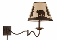 Vaxcel WL55712BBZ Bozeman Country Burnished Bronze Finish 27.75  Wide Wall Swing Arm Lamp
