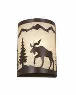 Vaxcel WS55608BBZ Yellowstone Burnished Bronze Finish 5  Wide Outdoor Wall Light Fixture