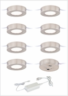 Vaxcel X0083 Instalux Contemporary Satin Nickel LED Dual Mount Puck Light 7-pack Kit