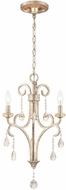 World Imports 23076-YOW Caruso Silver Mini Hanging Chandelier
