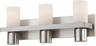 World Imports 23278-YOWB Pillar Satin Nickel 3-Light Bathroom Wall Light Fixture