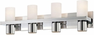 World Imports 23279-YOWC Pillar Chrome 4-Light Bathroom Light
