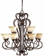 World Imports 262124 Olympus Tradition Crackled Bronze Mini Lighting Chandelier
