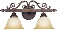 World Imports 263024N Olympus Tradition Crackled Bronze With Silver 2-Light Bath Lighting Fixture