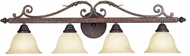 World Imports 263224N Olympus Tradition Crackled Bronze With Silver 4-Light Bathroom Light Fixture