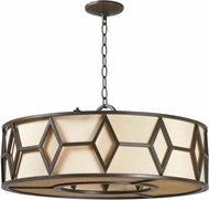 World Imports 350542 Decatur Rust Drum Hanging Lamp
