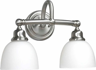World Imports 353202 Amelia Satin Nickel 2-Light Bathroom Lighting Fixture