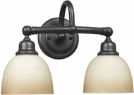 World Imports 353288 Amelia Oil Rubbed Bronze 2-Light Vanity Lighting