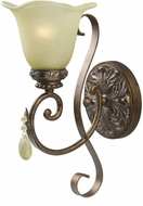 World Imports 476160 Catania Oxide Bronze With Silver Lighting Wall Sconce