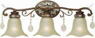 World Imports 478360 Catania Oxide Bronze With Silver Bath Lighting Fixture