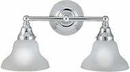 World Imports 7027208 Asten Chrome 2-Light Bathroom Sconce Lighting