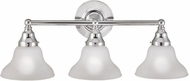 World Imports 7027308 Asten Chrome 3-Light Bath Lighting Sconce