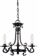World Imports 8000442 Cardiff Rust Mini Chandelier Lamp
