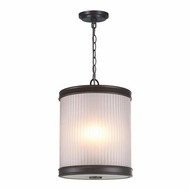 World Imports ES0002OB4 Nikolai Oil Rubbed Bronze Drum Pendant Light Fixture