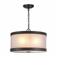 World Imports ES0003OB4 Nikolai Oil Rubbed Bronze Drum Pendant Lighting Fixture