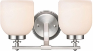 World Imports EW1005SBA Kelly Brushed Nickel 2-Light Bathroom Sconce