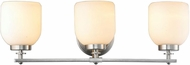 World Imports EW1006SBA Kelly Brushed Nickel 3-Light Vanity Light Fixture