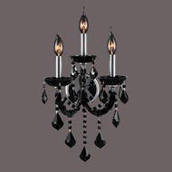 Worldwide W23113C12-BL Lyre Polished Chrome Black 3-Light Wall Sconce