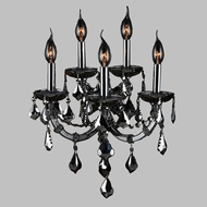 Worldwide W23115C15-SM Lyre Polished Chrome Smoke 5-Light Wall Sconce Lighting